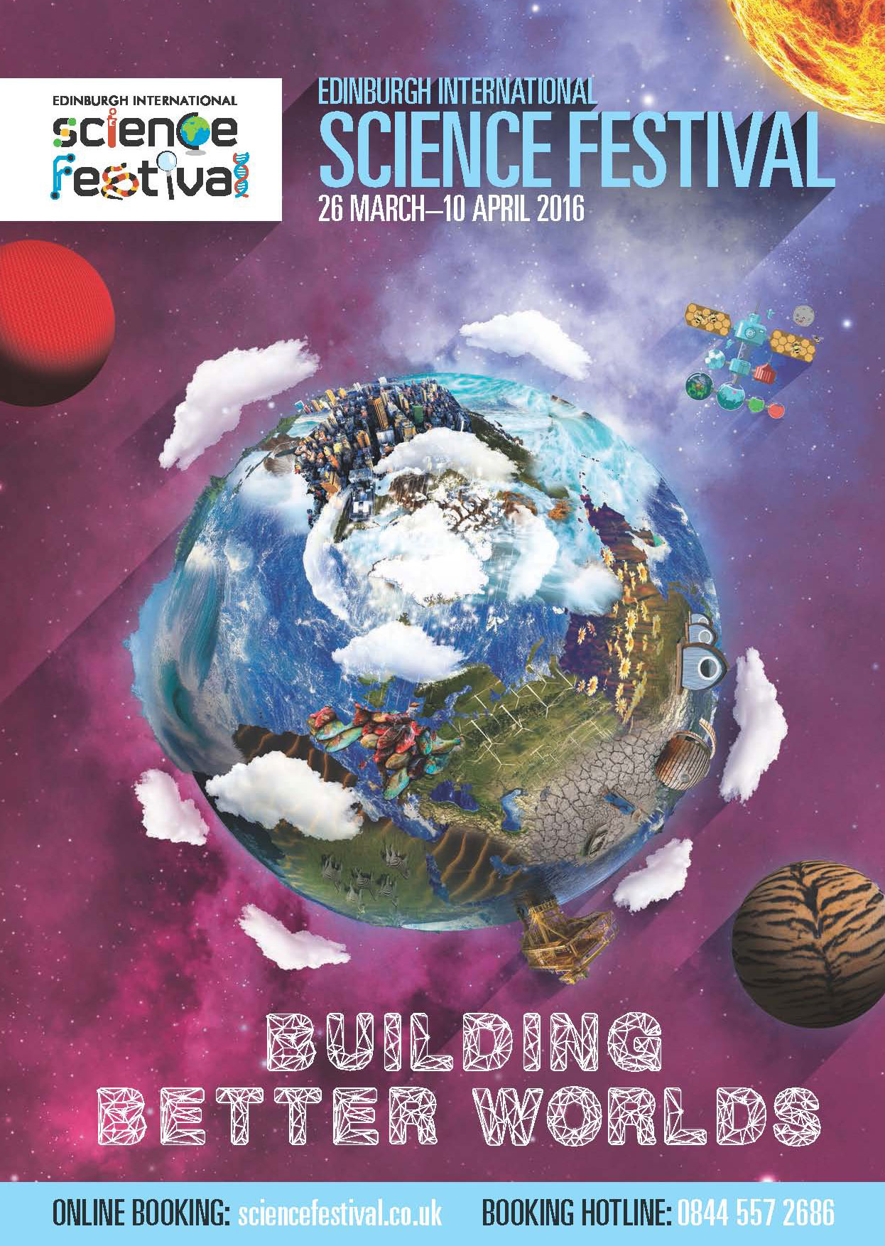 2016 Edinburgh International Science Festival brochure cover