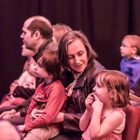 Family theatre audience