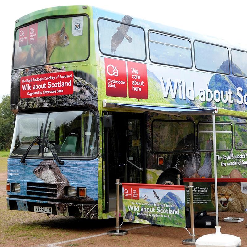 Wild About Scotland Bus (RZSS Edinburgh Zoo)