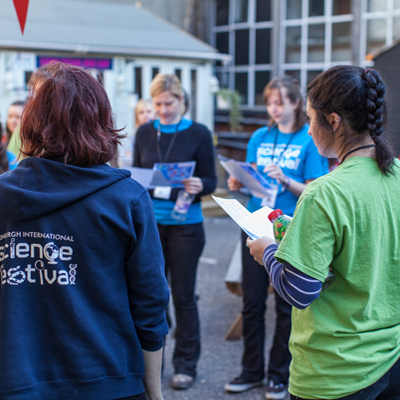 Staff at the 2014 Science Festival